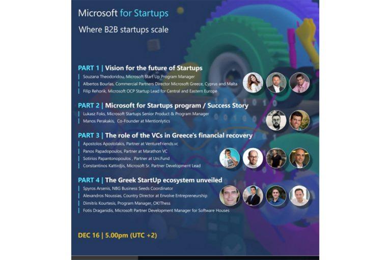 Microsoft for Startups Kick-off Event: Με ποιους τρόπους μπορούν οι startups να συμβάλλουν στην οικονομική ανάκαμψη