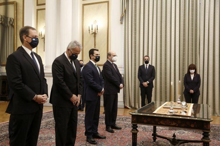 Ανασχηματισμός: Ολοκληρώθηκε η ορκωμοσία των νέων μελών της κυβέρνησης