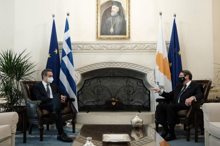 Κυρ. Μητσοτάκης: Ελλάδα και Κύπρος παντού και πάντα συντονισμένες