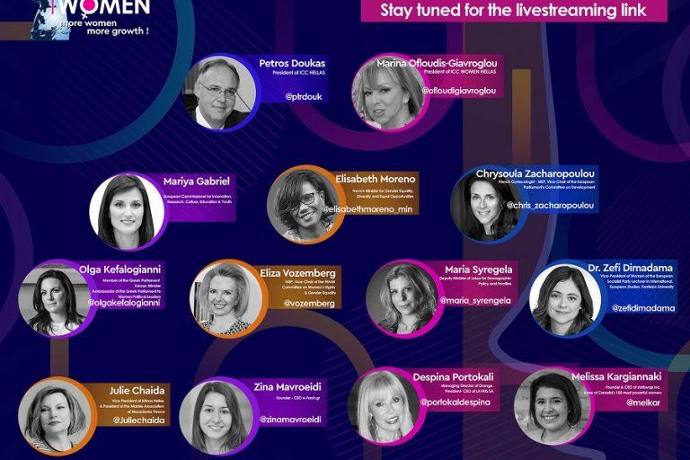 Η Επίτροπος της ΕΕ για την Καινοτομία και η Γαλλίδα Υπουργός Ισότητας στην ψηφιακή εκδήλωση του ICC WOMEN HELLAS