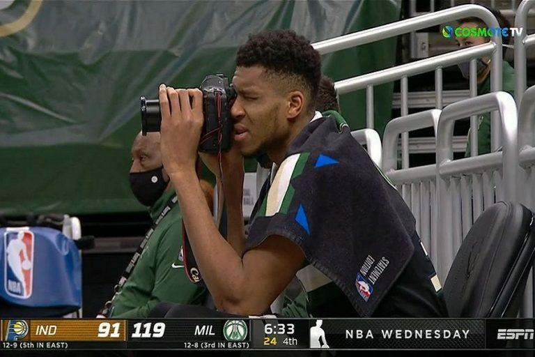 Ο Αντετοκούνμπο μετά το triple double γίνεται και… φωτογράφος (Βίντεο)