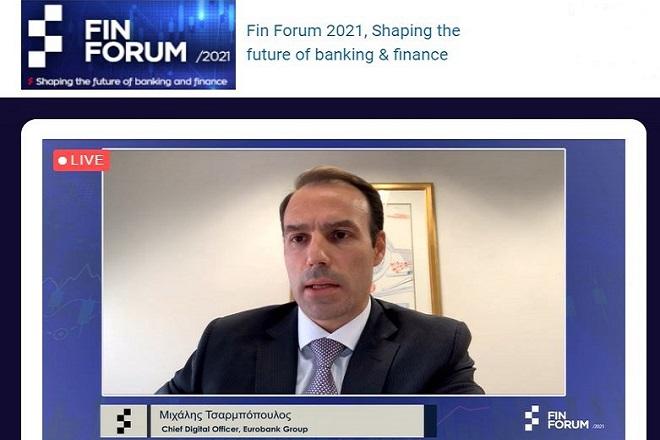 """Μιχάλης Τσαρμπόπουλος (Eurobank): «Οι τράπεζες στην Ελλάδα βιώνουν την """"τέλεια καταιγίδα""""»."""