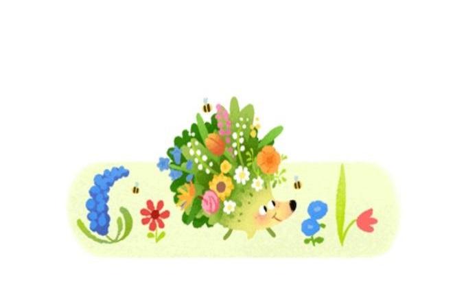 Η Google υποδέχεται την άνοιξη με ένα doodle