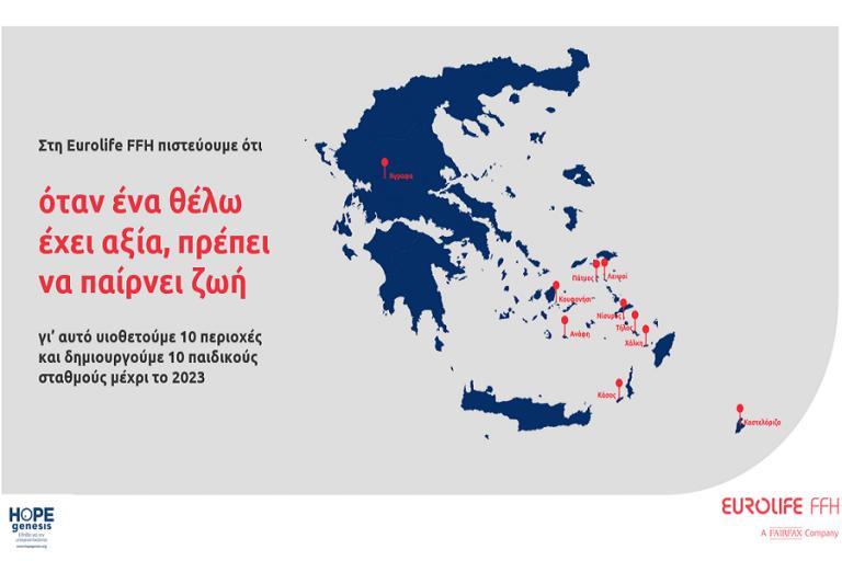 Eurolife FFH: Δημιουργεί δέκα νέους παιδικούς σταθμούς σε ακριτικές περιοχές