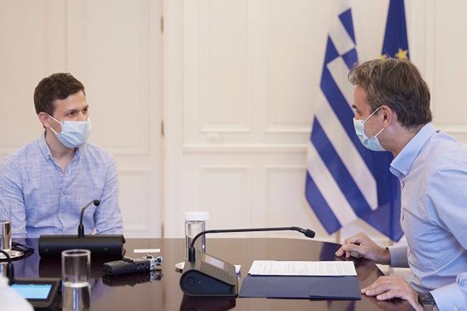 Όλα όσα είπαν ο Κυριάκος Μητσοτάκης με τον Γιάννη Τσίωρη, ιδρυτή της Instashop που πουλήθηκε για 300 εκατ. ευρώ