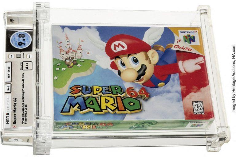 Τιμή-ρεκόρ: 1,56 εκατομμύρια δολάρια για κασέτα του θρυλικού «Super Mario» της Nintendo 64