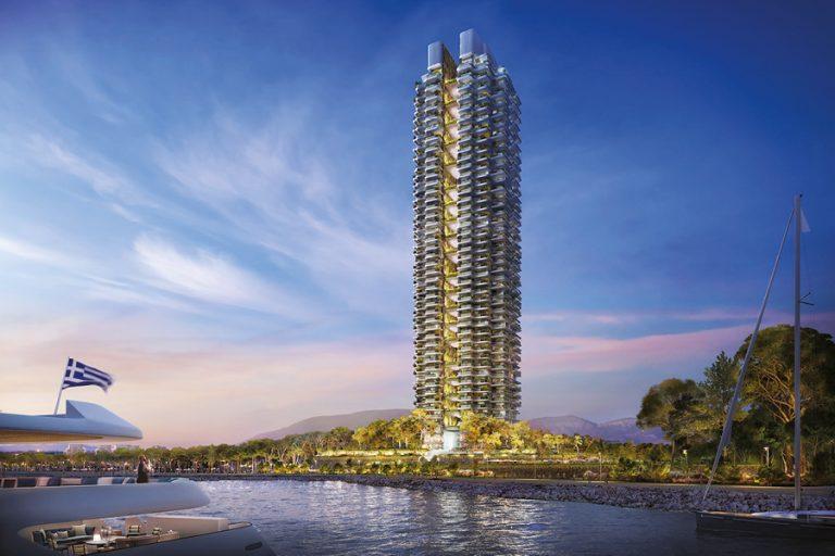 Marina Tower: Στην Ελλάδα ο πιο ψηλός πράσινος «φάρος» στη Μεσόγειο