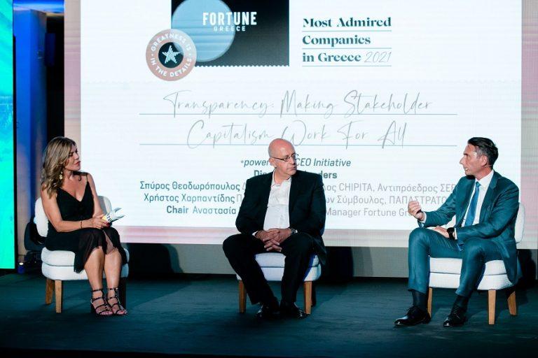 Σπύρος Θεοδωρόπουλος και Χρήστος Χαρπαντίδης στο Fortune Exclusive Event: «Η εμπιστοσύνη χτίζεται με βάση την αλήθεια»