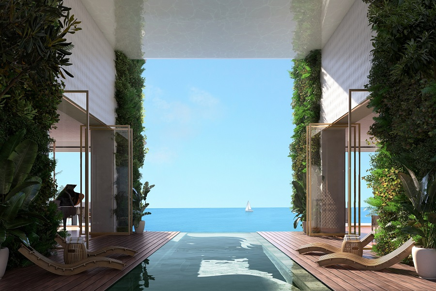 Lamda Development Marina Tower 3D 2. Pool Terrace