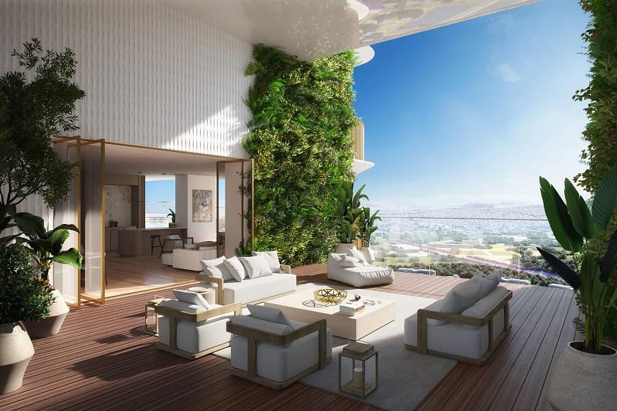 Lamda Development Marina Tower 3D 3. Terrace
