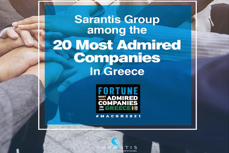 Ο Όμιλος Σαράντη στη λίστα του Fortune «Most Admired Companies 2021»