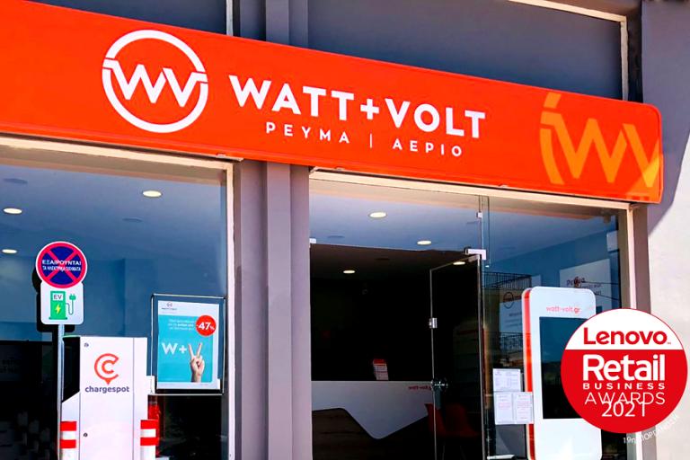 Ακόμα μια σημαντική διάκριση για τη WATT+VOLT, στα Retail Business Awards 2021