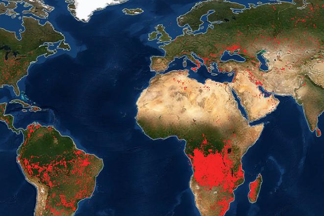 Εικόνα από τη NASA: Φλέγεται ο πλανήτης- Δείτε σε ποιες περιοχές
