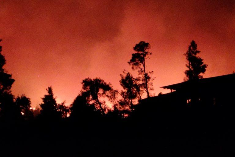 Υπό μερικό έλεγχο τέθηκαν δύο φωτιές που ξέσπασαν σχεδόν ταυτόχρονα στην Κέρκυρα