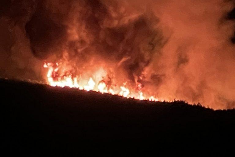 Μάχη με τις αναζωπυρώσεις δίνουν όλες οι επίγειες δυνάμεις στη μεγάλη πυρκαγιά στα Βίλια
