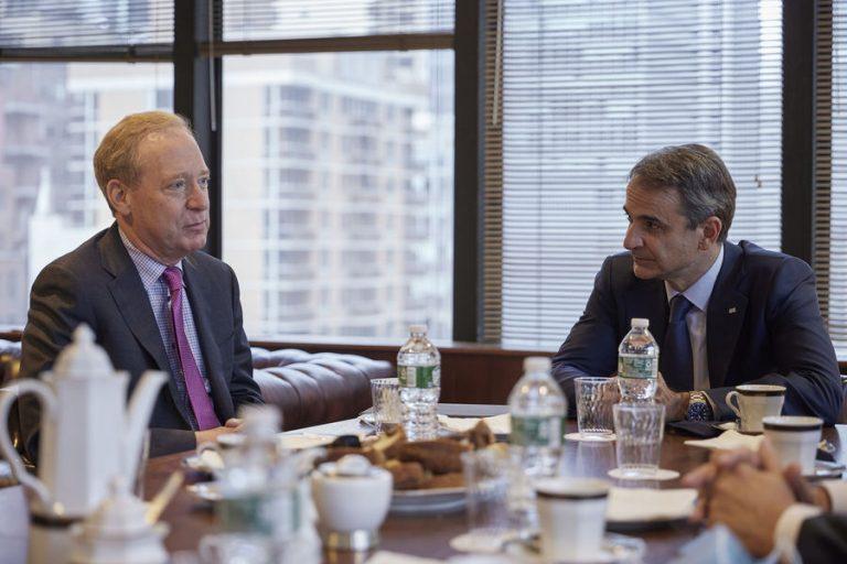 Τι συζήτησαν στη συνάντησή τους για την Ελλάδα ο Κυριάκος Μητσοτάκης με τον πρόεδρο της Microsoft